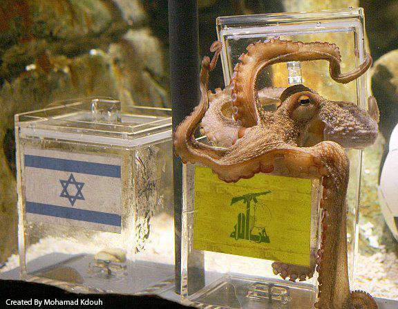 Paul the Octopus on the upcoming Lebanese-Israeli war.