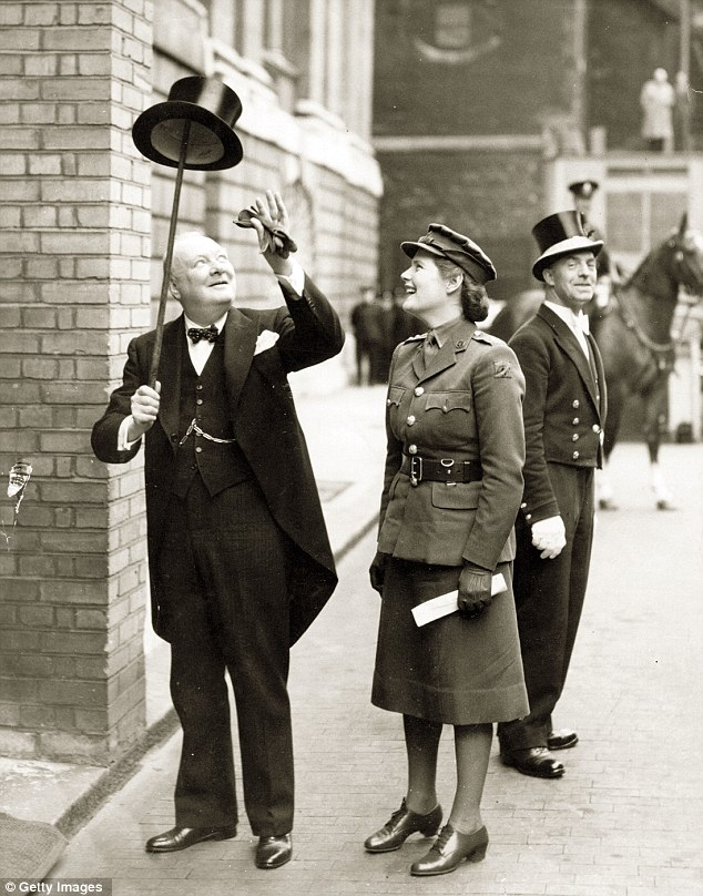 My favorite picture of Sir Winston Churchill. Here with his daughter Mary, on his way to receive the Freedom of the City of London, July 1943.