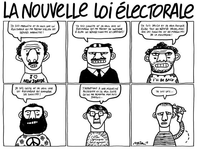 Mazen Kerbaj La nouvelle loi électorale proposition orthodoxe 2013